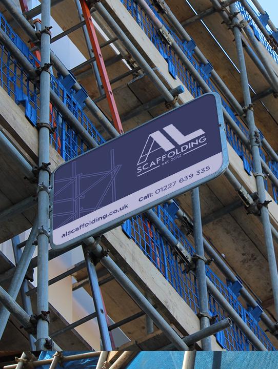 alscaffolding signage