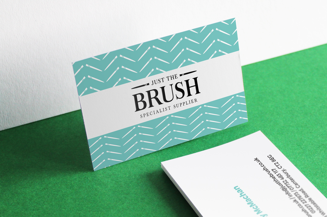 Just The Brush business card