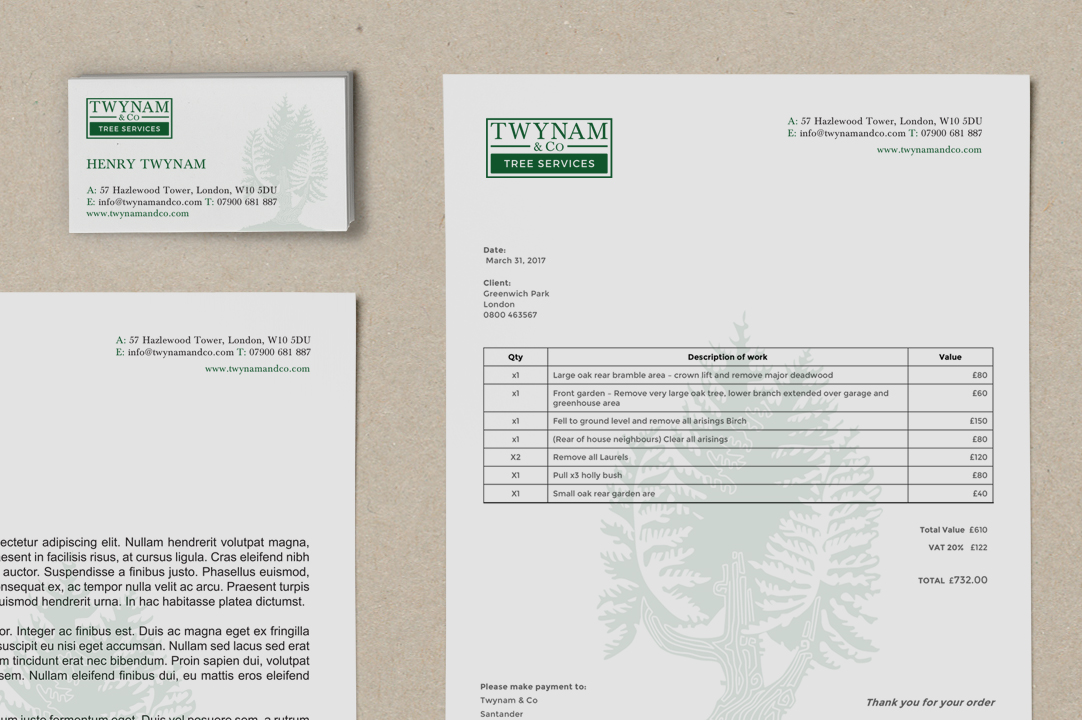 Twynam invoice